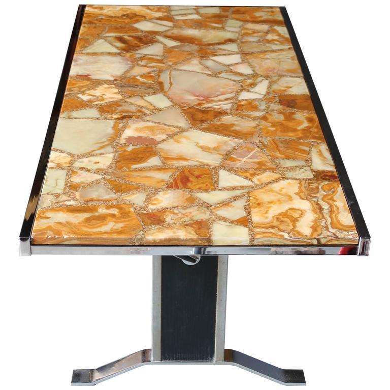 1960s Onyx Coffee Table