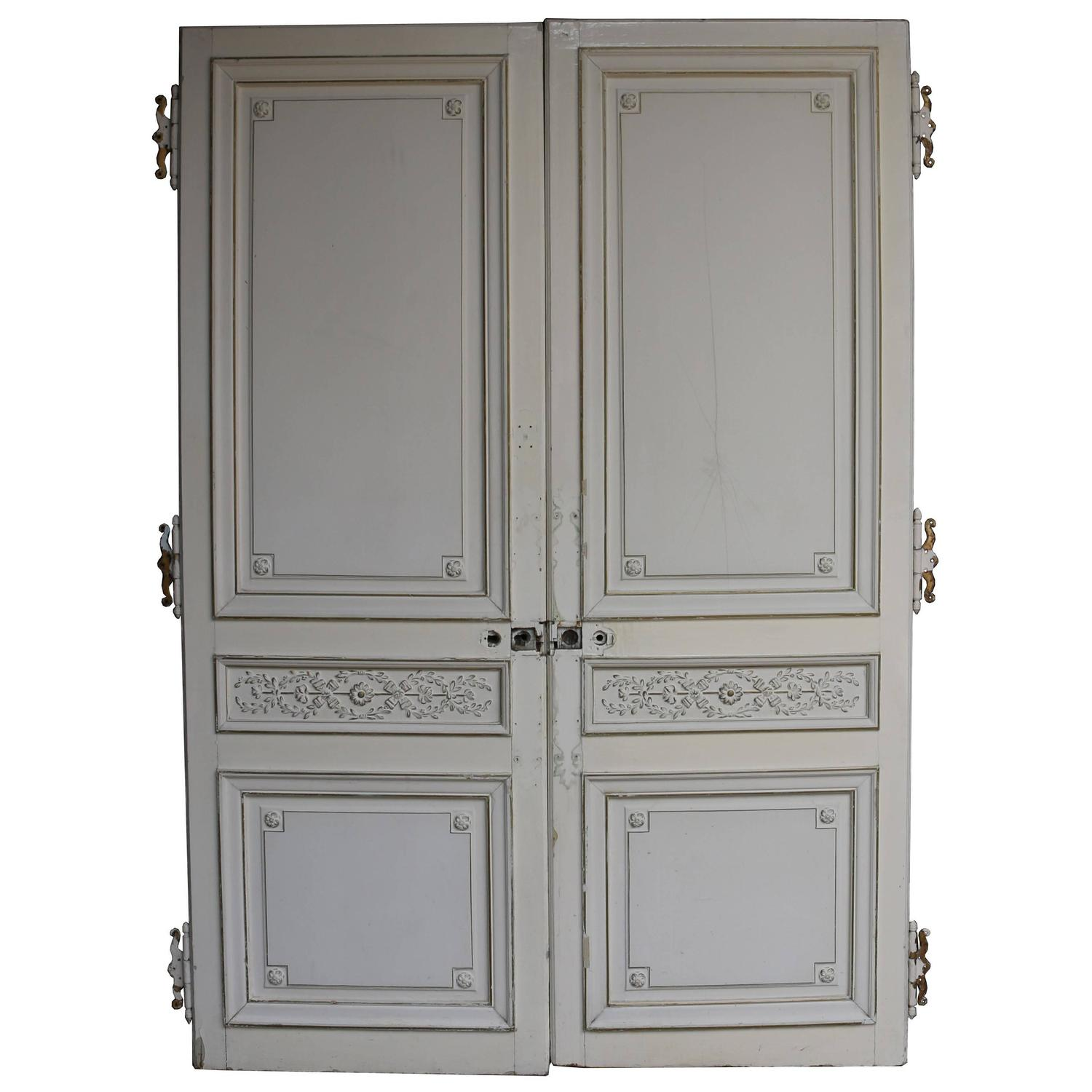 Antique French Doors : Pair of antique french double doors at stdibs