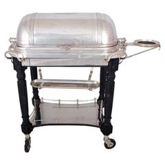 Silver Plated Revolving Domed Top Carving Trolley