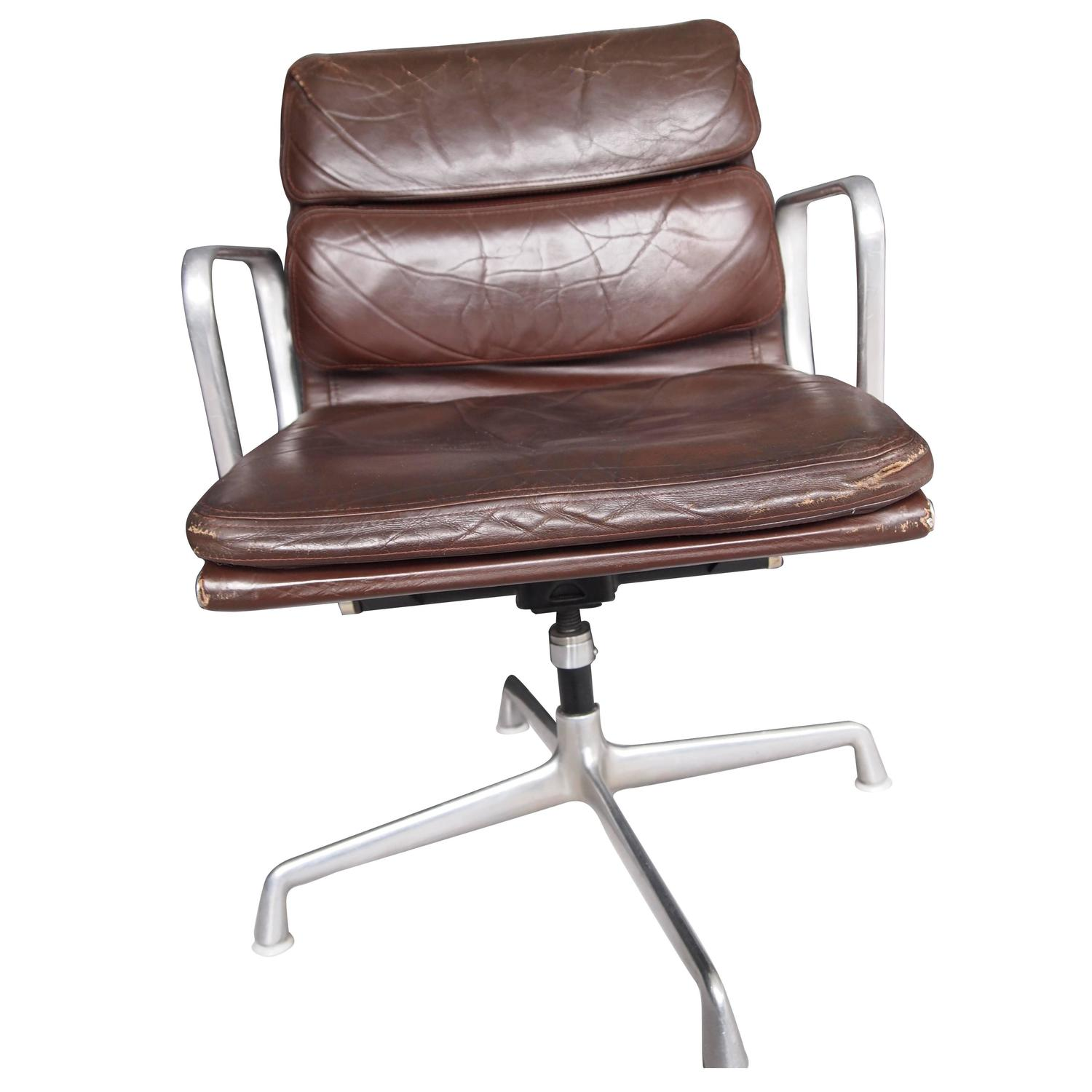Eames Chair Leather metal and leather dining chairs, eames soft pad chair brown, eames