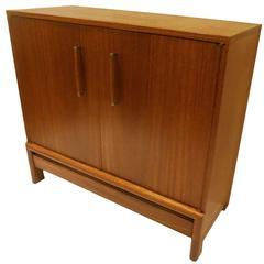 1950s American Mid-Century Mahogany Rare Bar Cabinet by Brown Saltman