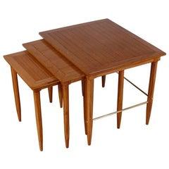 Set of Midcentury Oak Nesting Tables