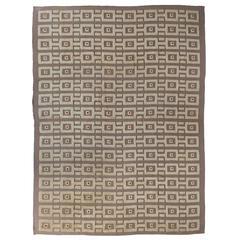 Rare and Important Swedish Carpet by Sigvard Bernadotte