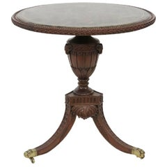 Tessellated Marble-Top Carved Round Table