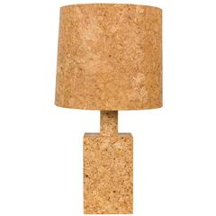 Cork Table Lamp with Cork Shade