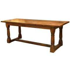 20th Century Yew Kitchen Or Dining Table