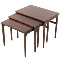 Three Nesting Tables Rosewood, Denmark, 1960s