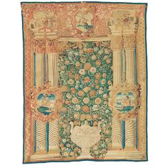 Early 17th Century Flemish Portico Tapestry