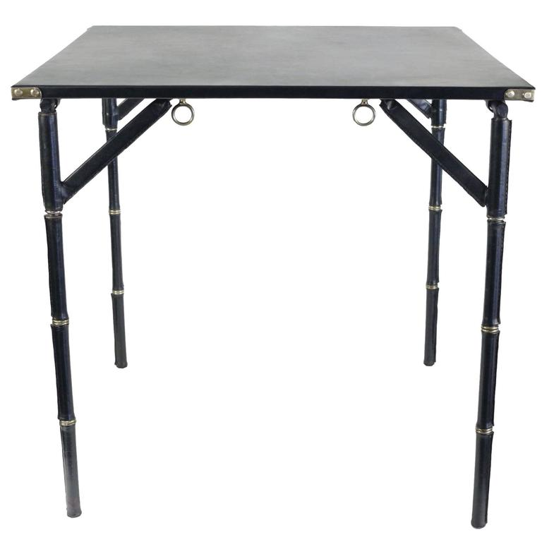 Jacques Adnet 1950s Folding Game Table 1