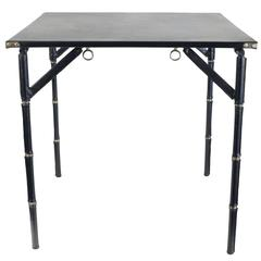 Jacques Adnet 1950s Folding Game Table