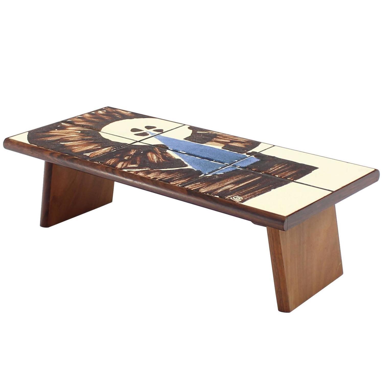 folding legs serving tray rosewood and tile top denmark for sale at 1stdibs. Black Bedroom Furniture Sets. Home Design Ideas