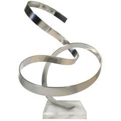 Large Loop Aluminum Ribbon Sculpture by Dan Murphy