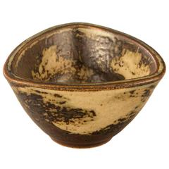 Jais Nielsen for Royal Copenhagen, Small Danish Glazed Stoneware Bowl