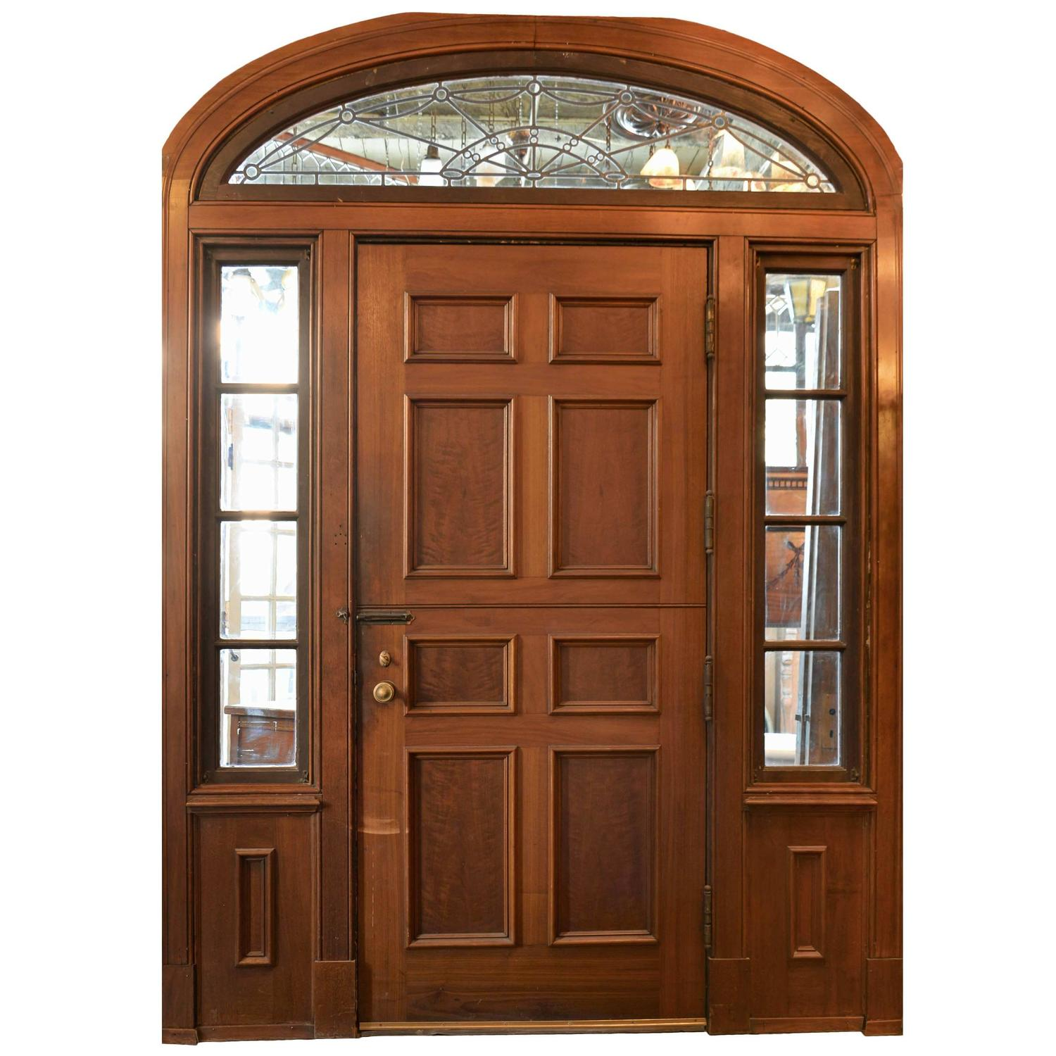 sc 1 st  1stDibs & Complete Walnut Entry Door and Paneled Vestibule circa 1915 at 1stdibs