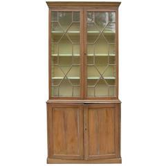 19th Century English Georgian Style Pine Bookcase
