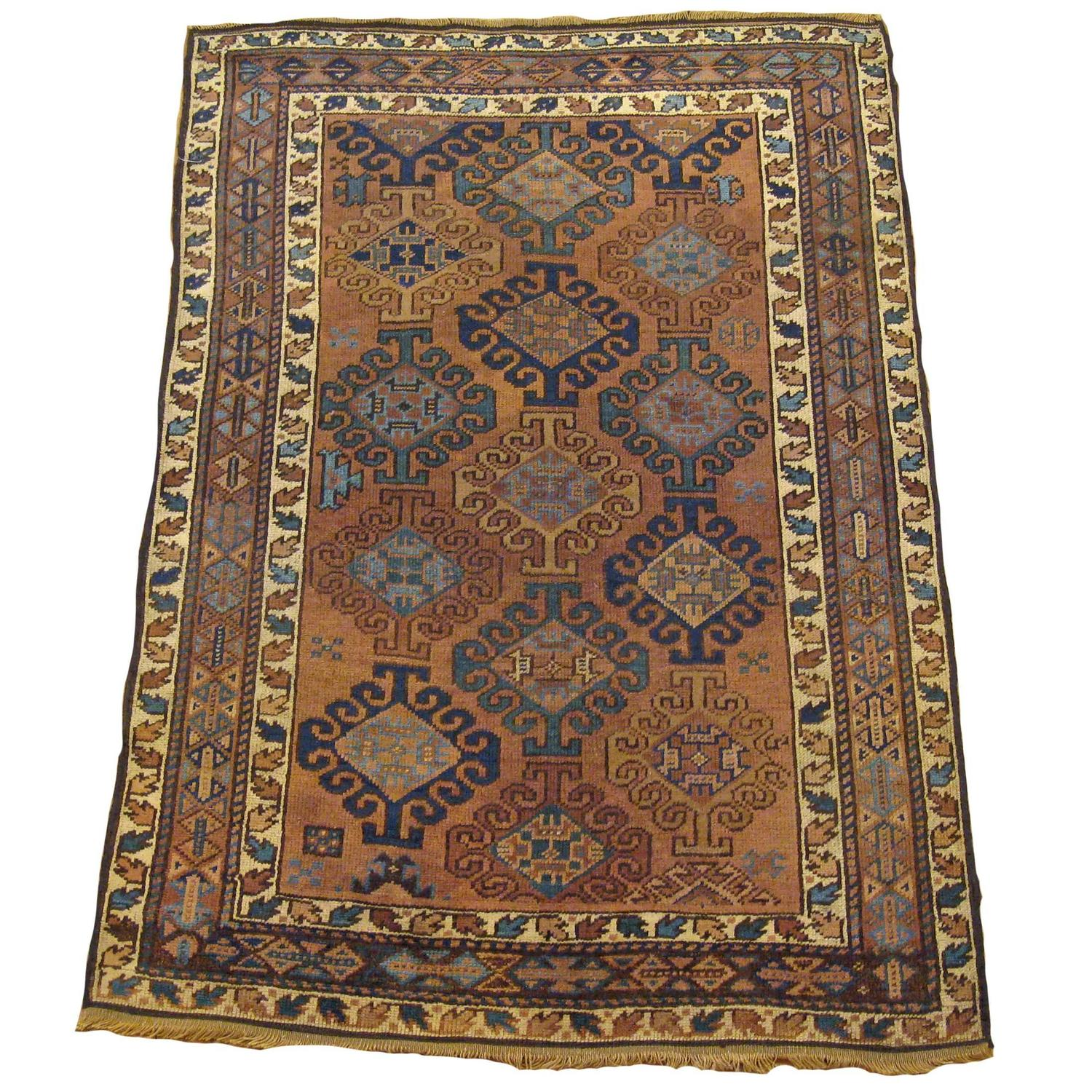 Chinese Rug Dealers: Antique Persian Kurd Oriental Rug, In Small Size, With