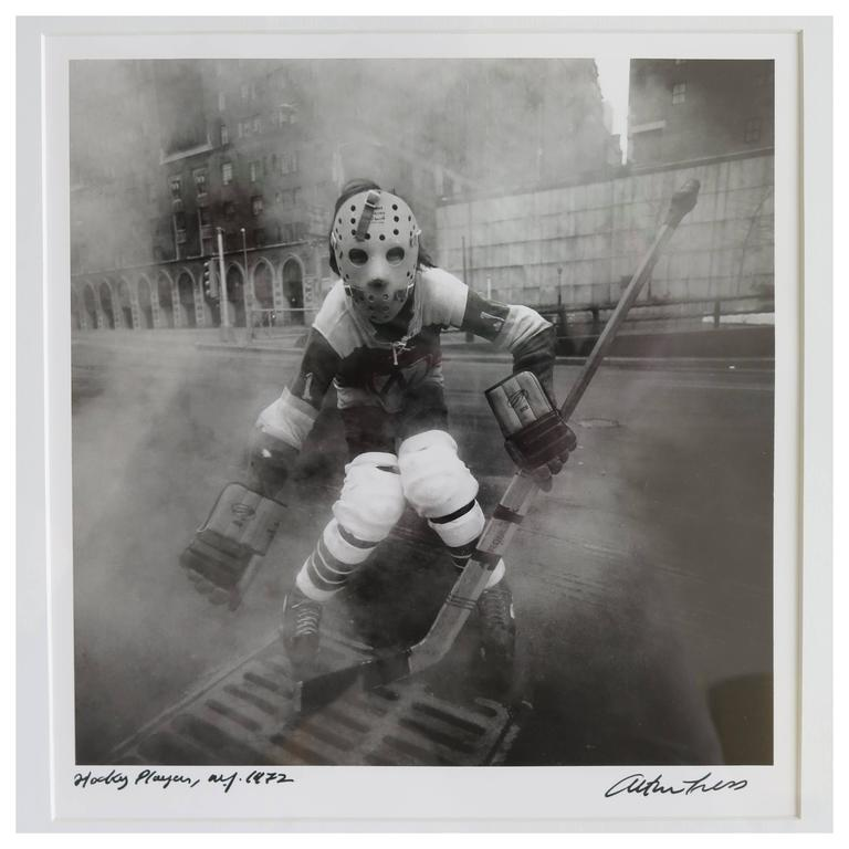 Arthur Tress Hockey Player NYC 1972 Photograph