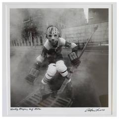 Arthur Tress Hockey Player NYC 1972 Photograph