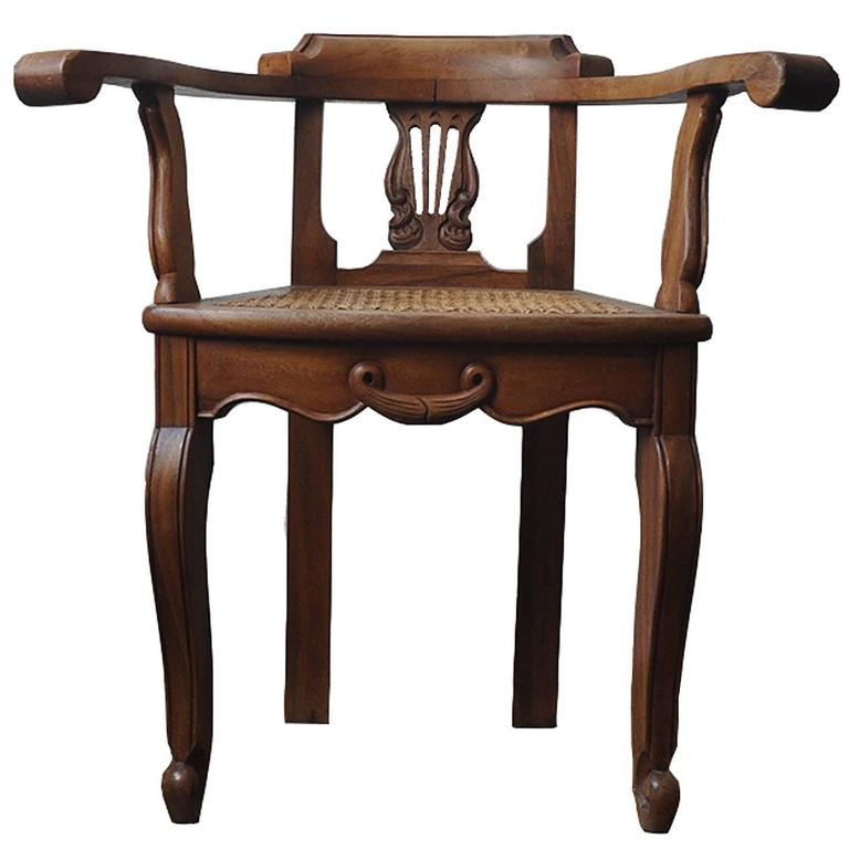 Pair of 1940s Hand Carved Guatemalan Colonial Chairs 1. Pair of 1940s Hand Carved Guatemalan Colonial Chairs For Sale at