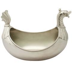 Sterling Silver Centerpiece Bowl, Antique Edwardian