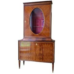 Paolo Buffa Vitrine or Display Cabinet in Rosewood, Italian, 1950s