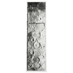 Lunar Craterscape Vintage Gelatin Silver Print by NASA