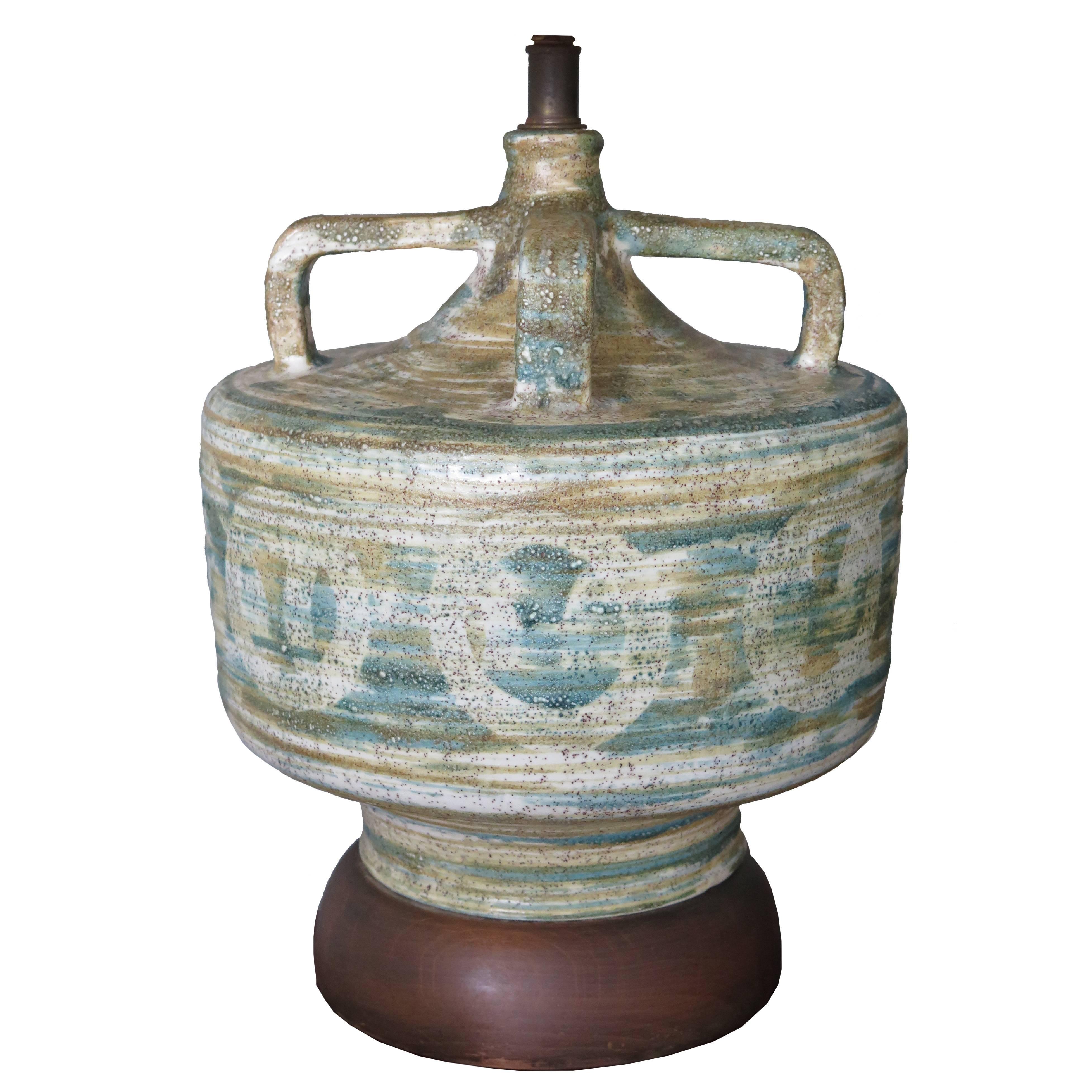 Large Raymor Ceramic Lamp, 1950s