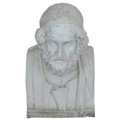 Mid 20th Century Homer Plaster Bust