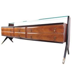 Mid-Century Modern Italian Sideboard in the Style of Paolo Buffa