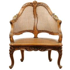 French Carved Fruitwood Chair
