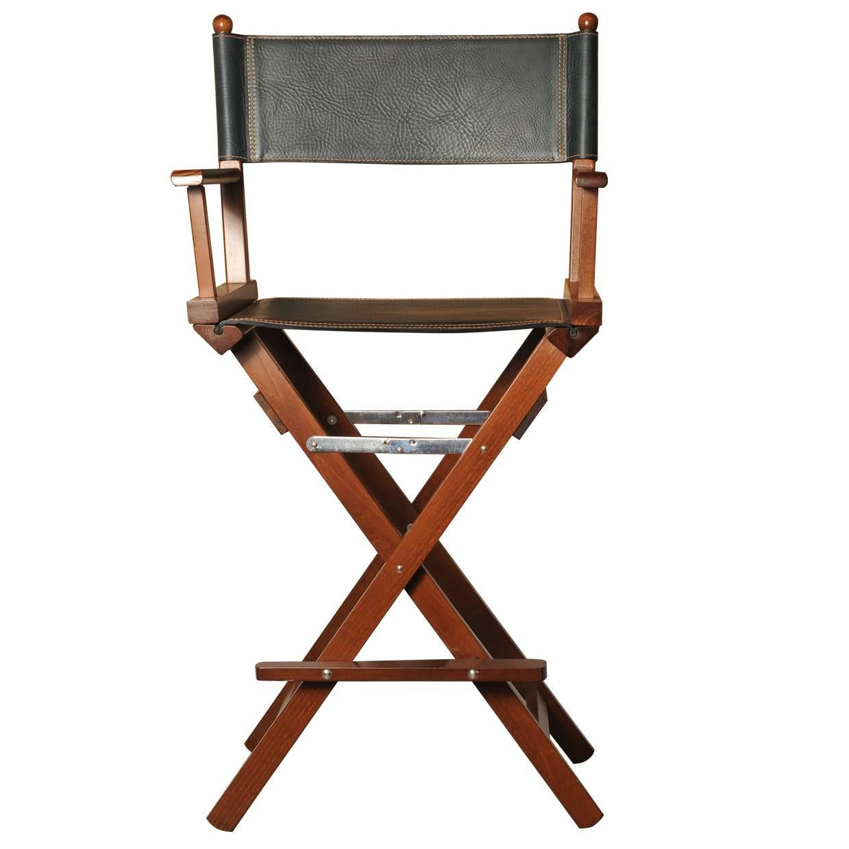 Black Leather Director's Chair
