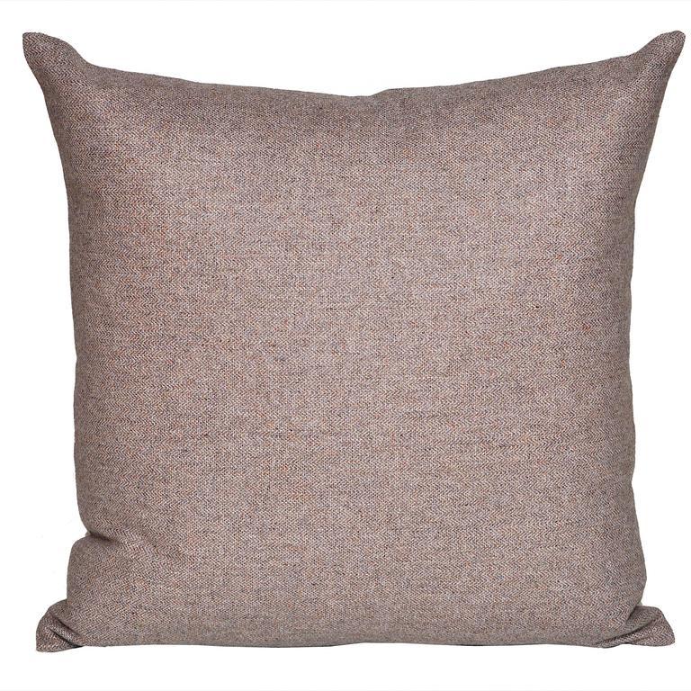 Vintage Heather Donegal Tweed Irish Wool with Irish Linen Cushion Pillow