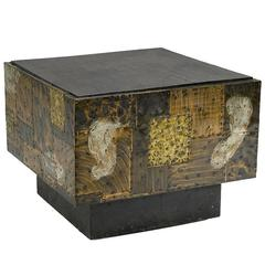 Paul Evans Metal Patchwork Square Table