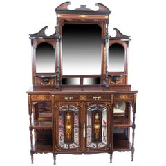 19th Century Edwardian Inlaid Rosewood Cabinet