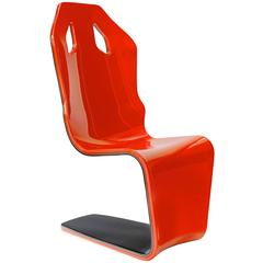 F1 Carbon Fiber Lounge One of a Kind Limited Edition in Rosso by Philip Caggiano