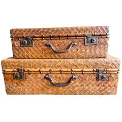 Vintage Chinese Rattan Luggage