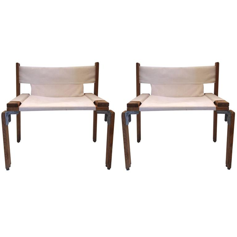 Georges Candilis and Anja Blomstedt, Pair of Armchairs, circa 1969, Italy For Sale