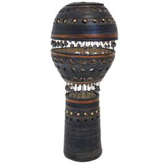 Georges Pelletier Glazed Ceramic Table Lamp, Signed, France, circa 1980