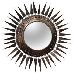 Georges Pelletier Large Mirror, Signed on the Back, circa 1970, France