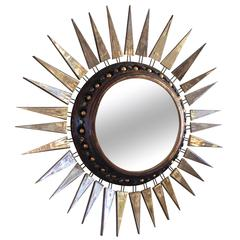 Georges Pelletier Small Mirror, Signed on the Back, circa 1970, France