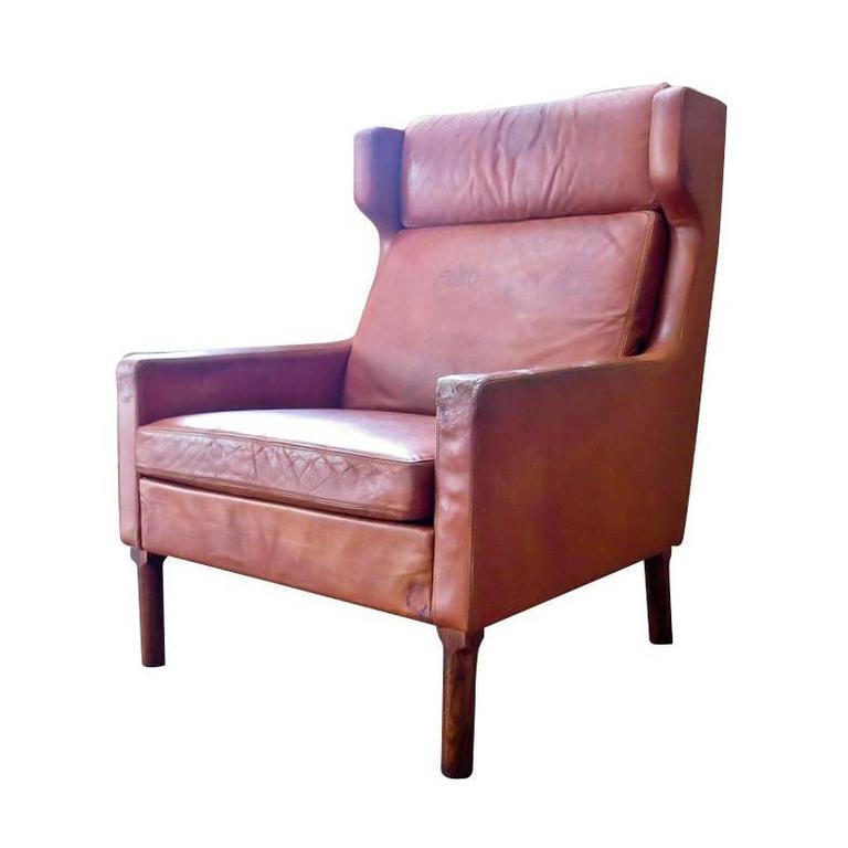 1960s Missoni Wingback Chair At 1stdibs: Arne Vodder Lounge Chair For Fritz Hansen, Danish, 1960s