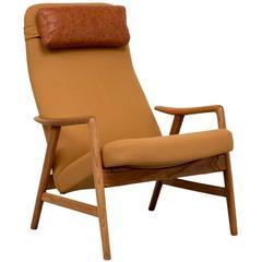 Alf Svensson Reclining Lounge Chair for Fritz Hansen