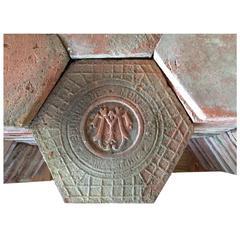 Original French Antique Hexagonal Terracotta Flooring, 19th Century