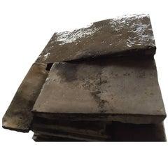"Original and Unique French Antique Limestone Flooring ""Dalles Anciennes"" 17th C"