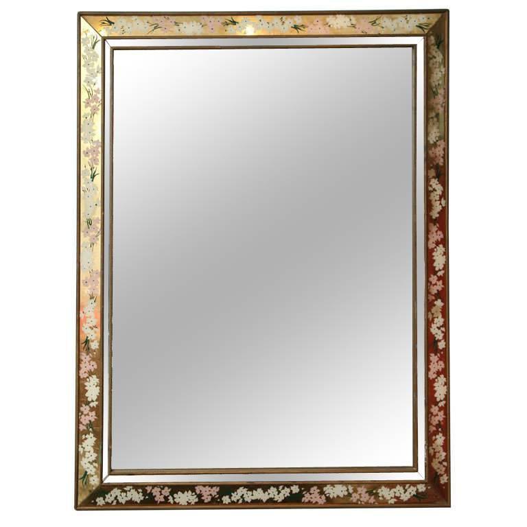 1960s Large Églomisé Mirror