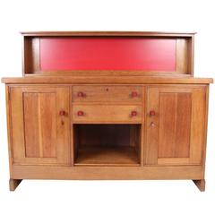 Rare and Important Art Deco Haagse School Sideboard by H.Wouda for Pander