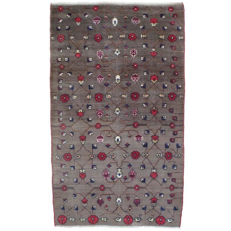 Karapinar Rug with Flower Lattice Design 1