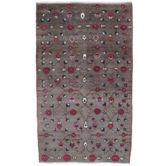 Karapinar Rug with Flower Lattice Design