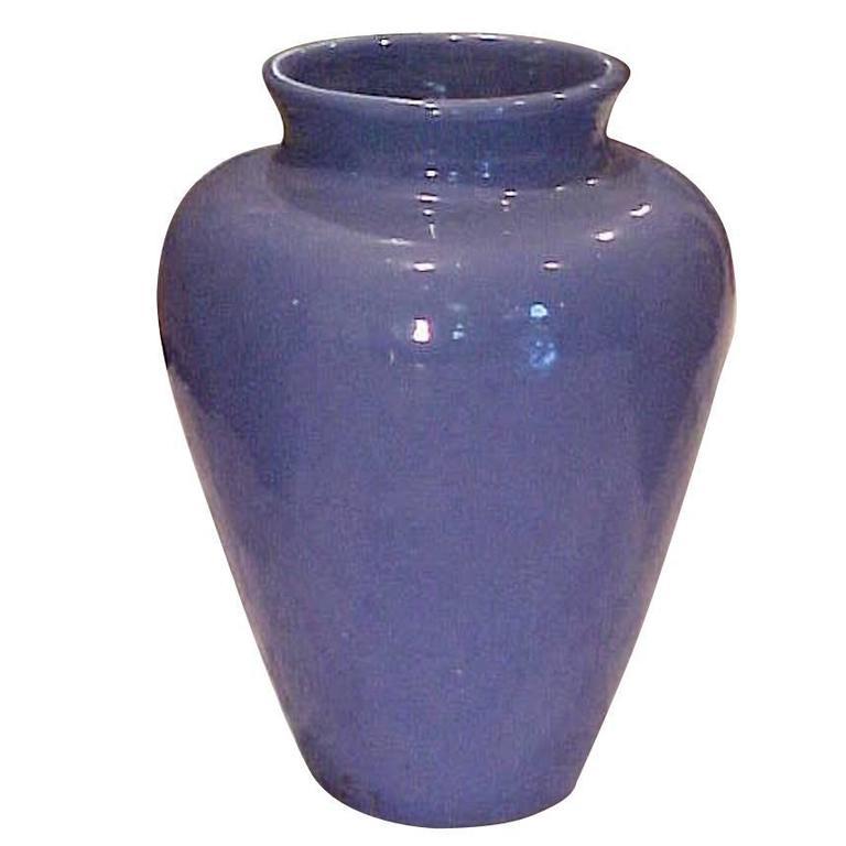 Rare Monumental Lustrous Ultramarine Blue Ceramic Urn--19th century For Sale