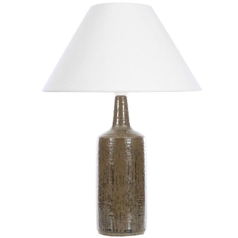 Mid-Century Modern Ceramic Brown Lamp by Per and Annelise Linnemann Schmidt for